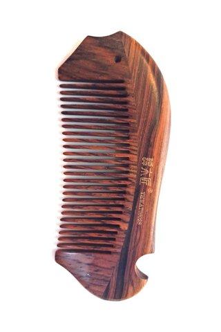 8100273 | Tan's Rose Wood Antistatic Comb With Handmade Fish Design