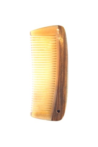 8100966 | Tan's Ox Horn Comb Teeth With Sandal Wood Handle Carry-on Comb
