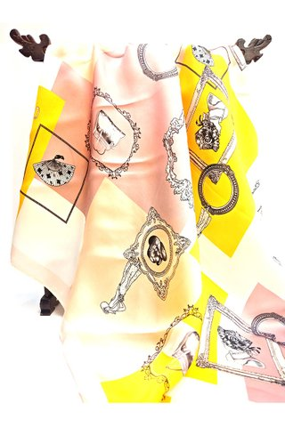 100% Silk Scarf Smooth and Soft Big Square Scarf For Female 1