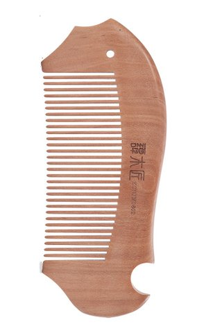 8100064 | Tan's Tendon Wooden Haircare Comb WIth Handmade Fish Design