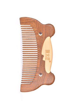 8100278 | Tan's Handmade African Teak Wooden Comb With Handpainted Cute Bear Design Gift Set