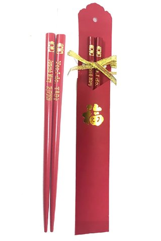 Custom Wedding Chopsticks And Paper Bag