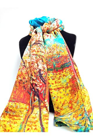 100% Silk Scarf Smooth and Soft Long Scarf For Female 13