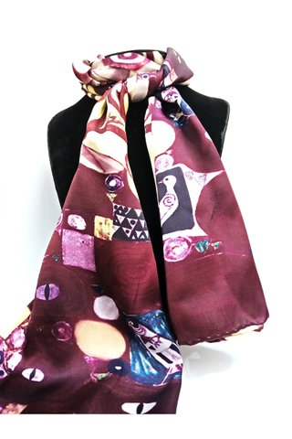 100% Silk Scarf Smooth and Soft Long Scarf For Female 18