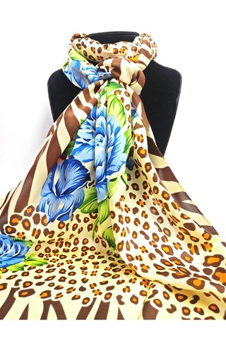 100% Silk Scarf Smooth and Soft Long Scarf For Female 2