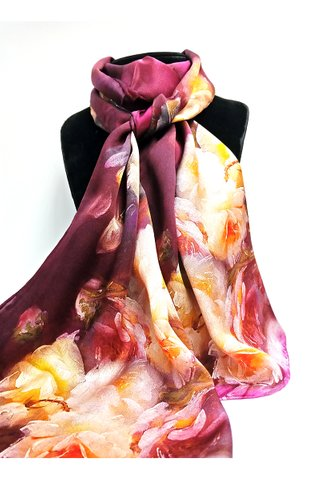 100% Silk Scarf Smooth and Soft Long Scarf For Female 25