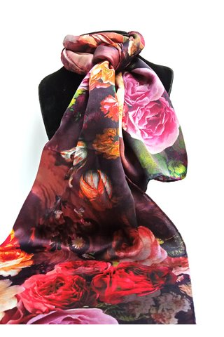 100% Silk Scarf Smooth and Soft Long Scarf For Female 28