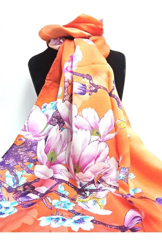 100% Silk Scarf Smooth and Soft Long Scarf For Female 4