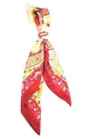 100% Silk Square Scarf Smooth and Soft Female 1