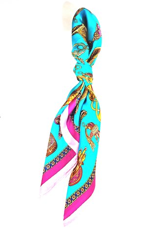 100% Silk Square Scarf Smooth and Soft Female 25