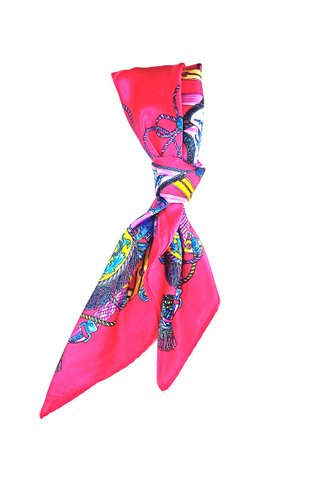 100% Silk Square Scarf Smooth and Soft Female 37