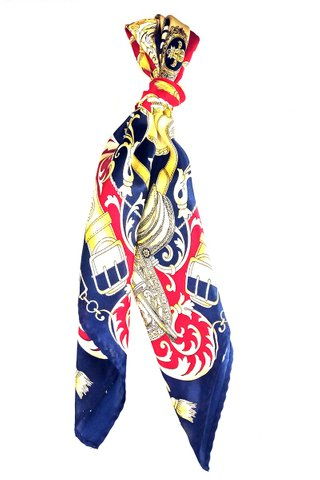 100% Silk Square Scarf Smooth and Soft Female 44