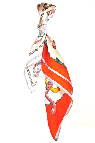 100% Silk Square Scarf Smooth and Soft Female 56