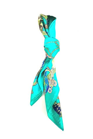 100% Silk Square Scarf Smooth and Soft Female 68